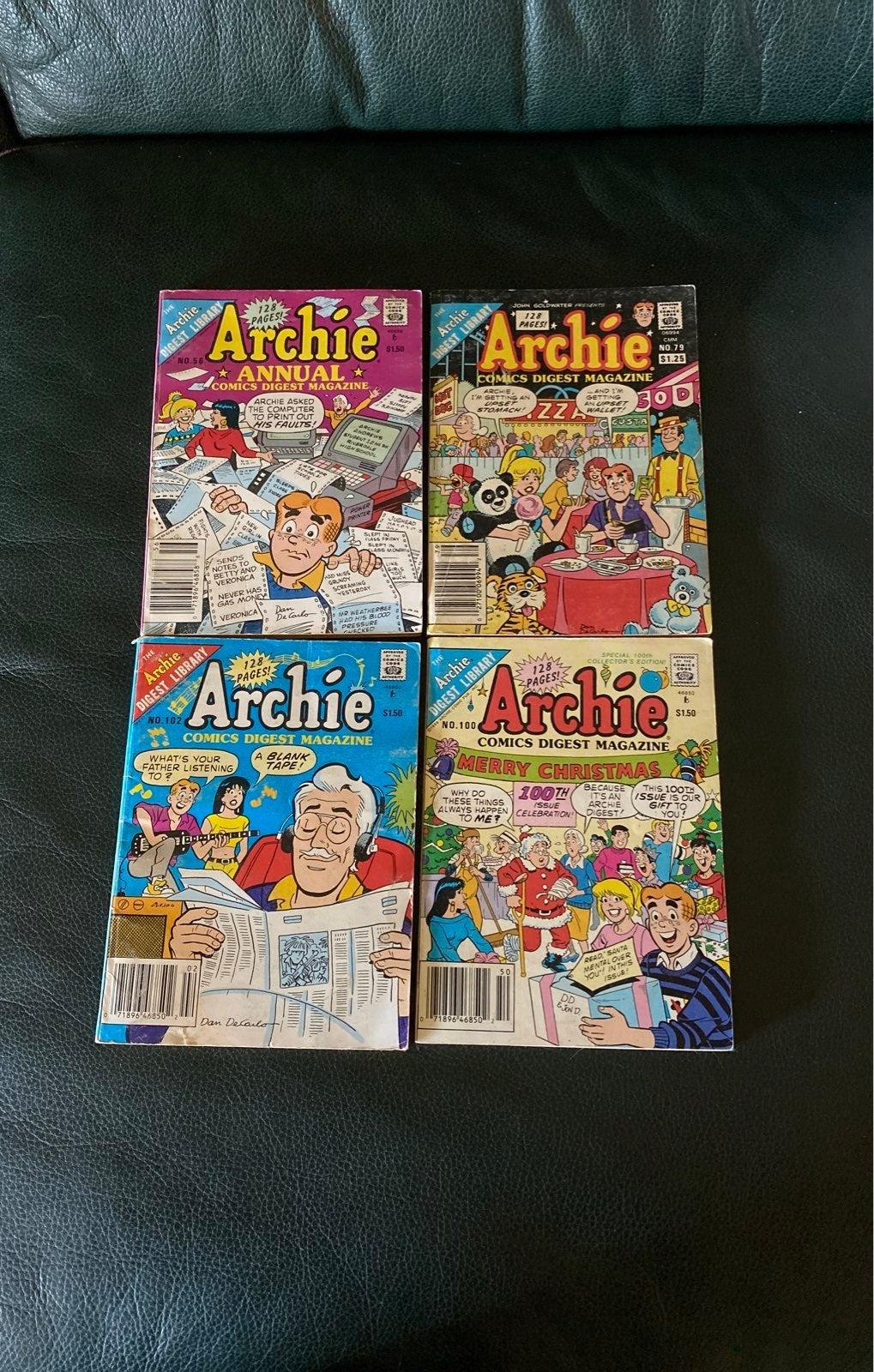 Vintage Archie Comic Set