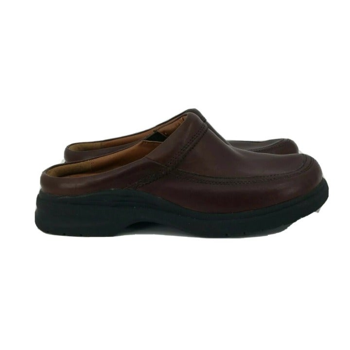 Ariat Womens Mules 15217 Leather Slip On Brown Clogs Comfort Shoes Size 8.5 B