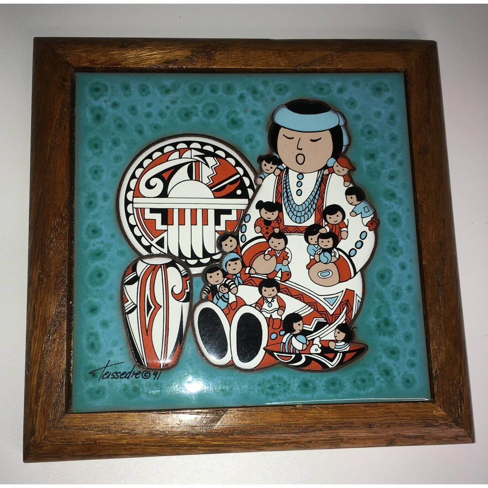 Teissedre Tile Native American Trivet