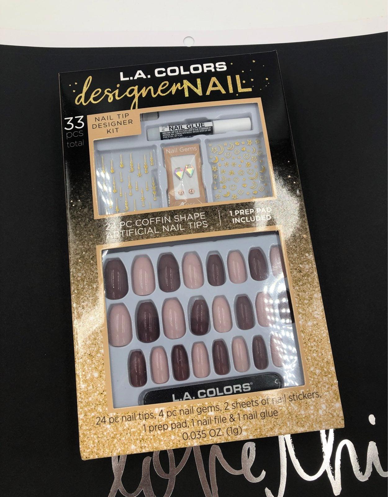 LA Colors Designer Nail Kit Mauve Pink