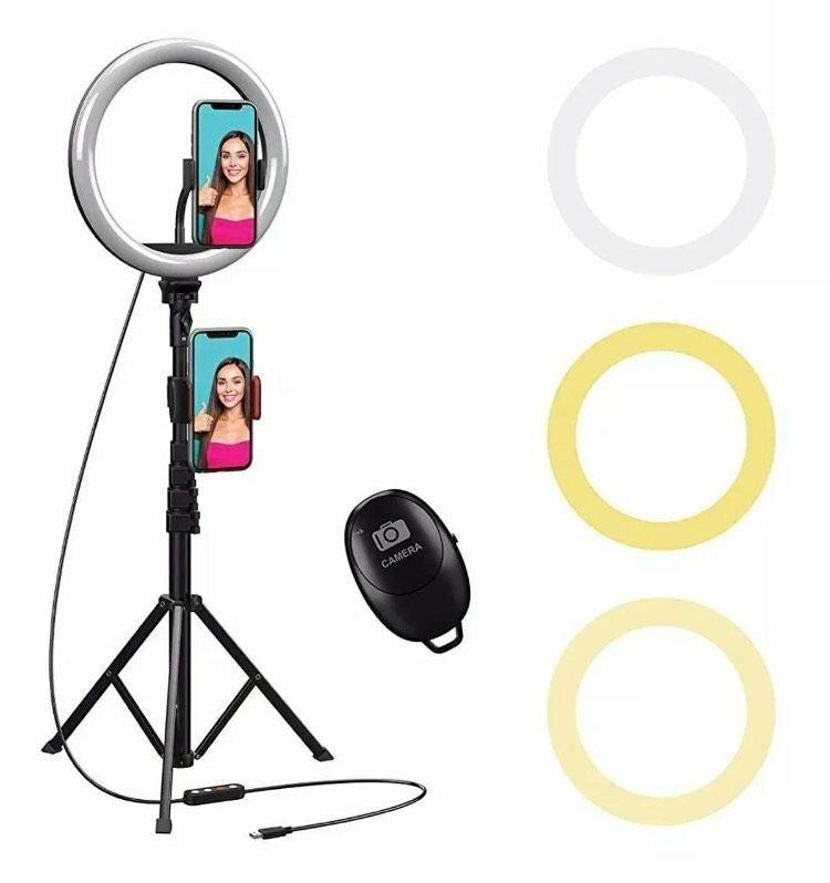 """10"""" Selfie Light + Tripod + Selfie Remot"""
