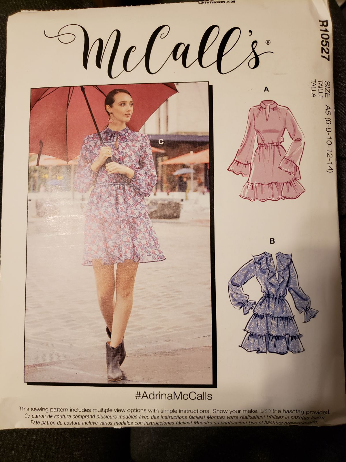McCall's Sewing Pattern Dresses Ruffled