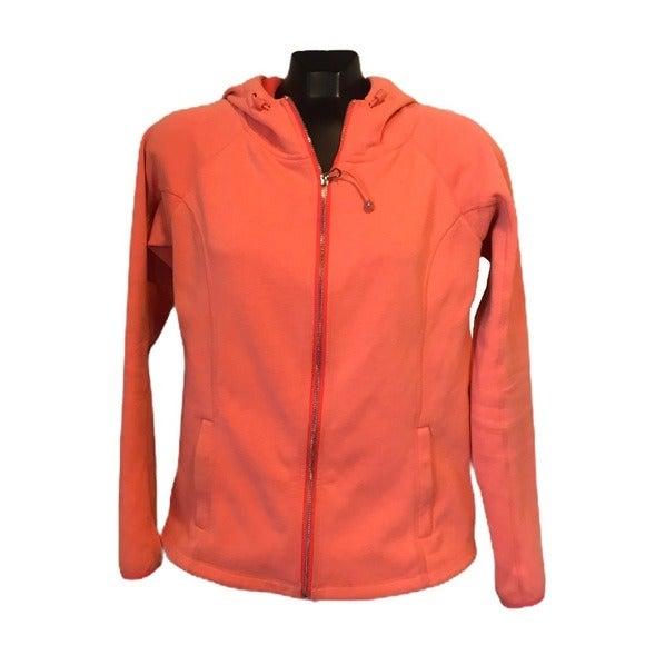 Active Fleece Lined Coral Orange Jacket