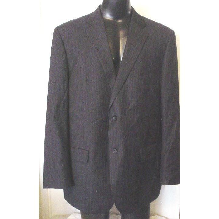 Alfani Black Stripe Wool Blazer 46R EC