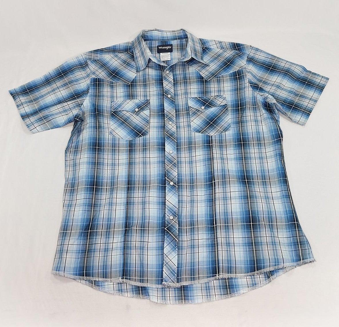 Vtg Wrangler Mens Short Sleeve Shirt XXL