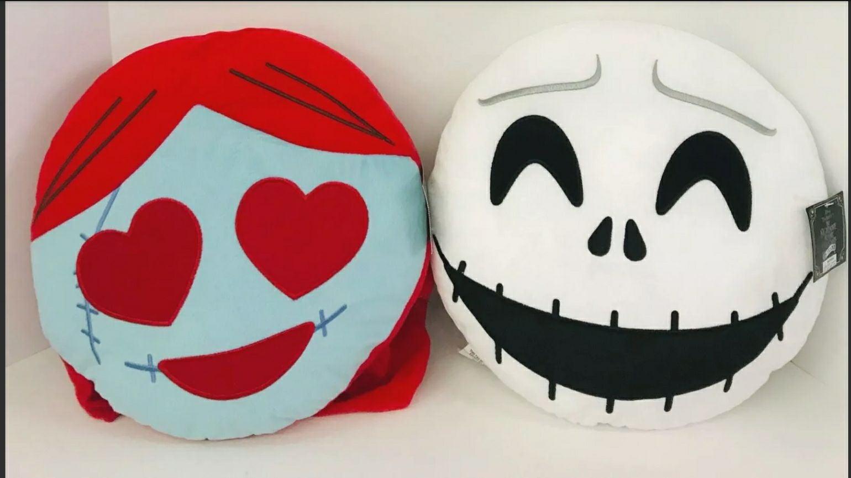 Jack and Sally Emoji Pillows