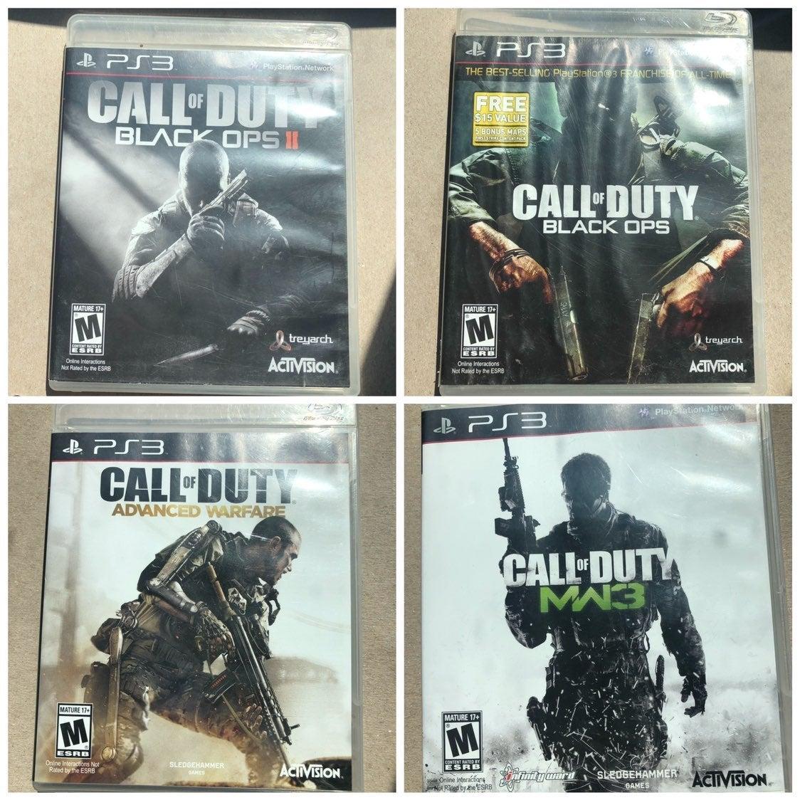 4 Call of Duty Games PS3 COD blackops 2