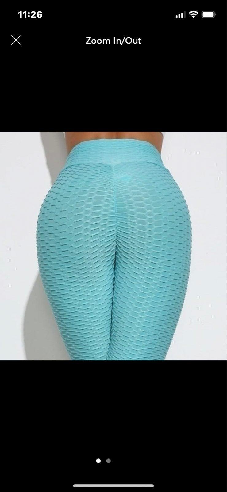 2 pair. Leggings High Waist Ruched/Blu&g
