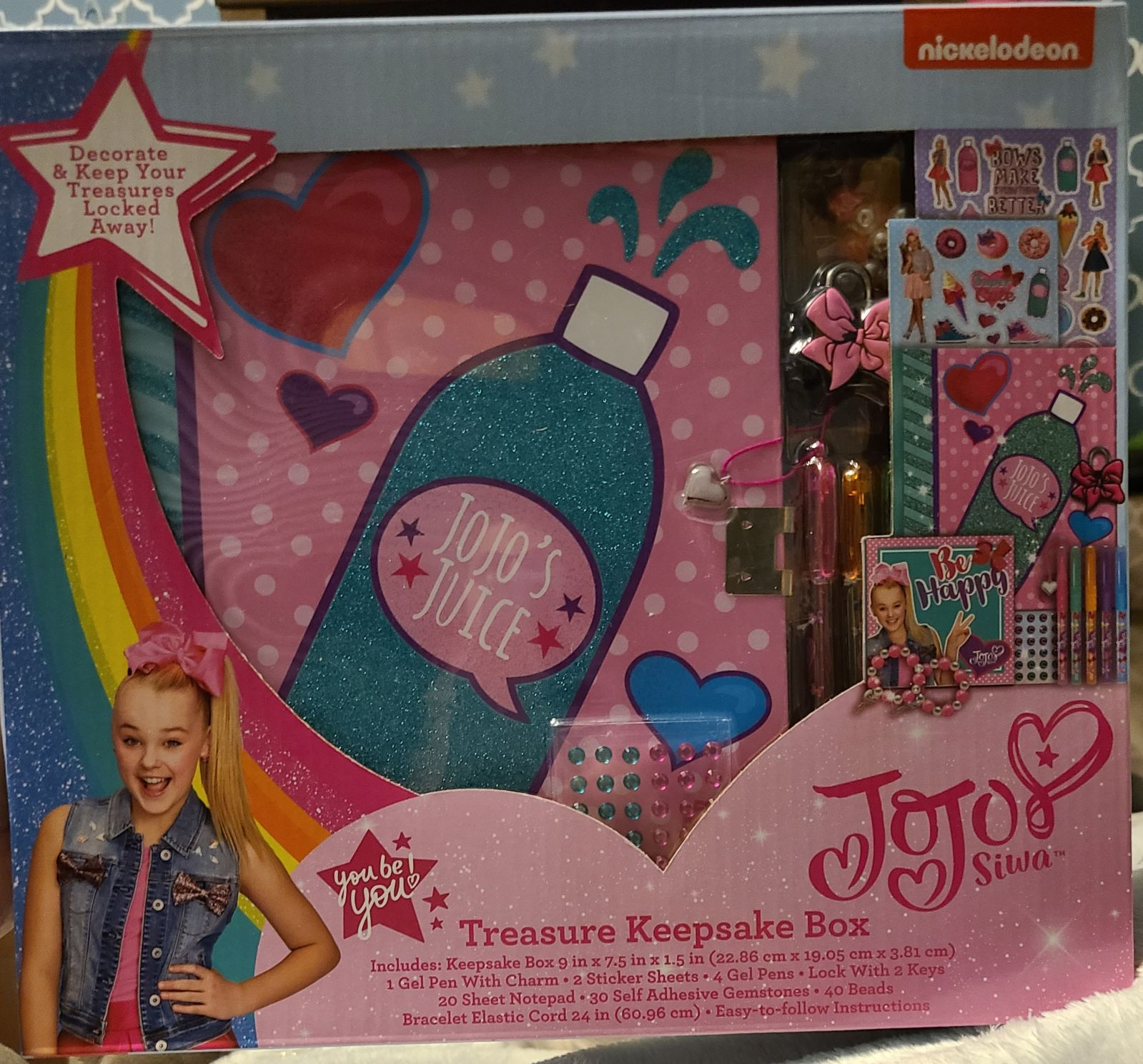 New Jojo Siwa Treasure Keepsake Box