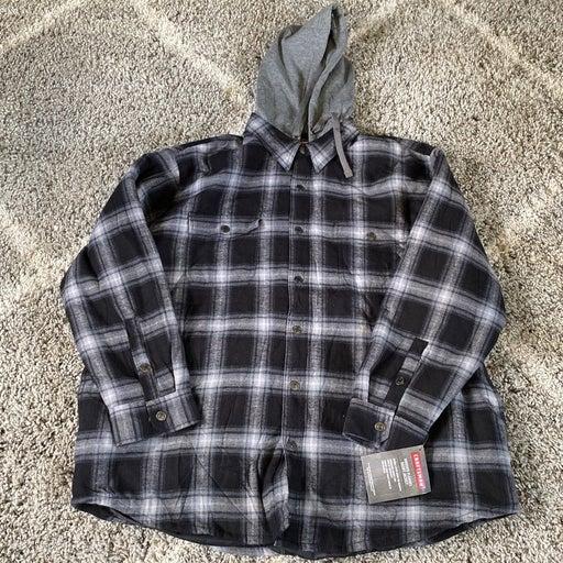Craftsmen Hooded Flannel Shirt Jacket XX