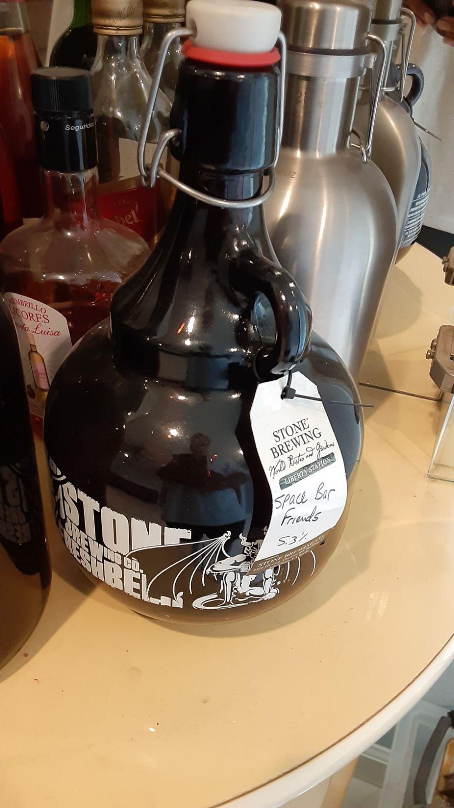 Stone brewing co. 64oz growler