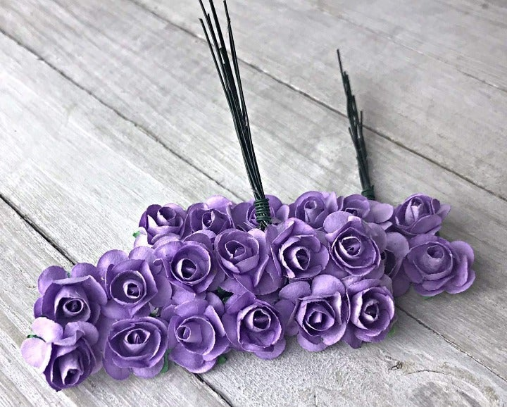 3 x Paper Rose Flower 120ct : Lavender