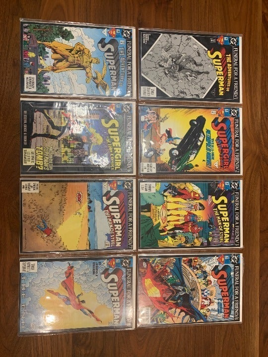 DC Superman Funeral For A Friend #1-8