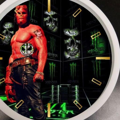 Monster led lights clock ft Hellboy
