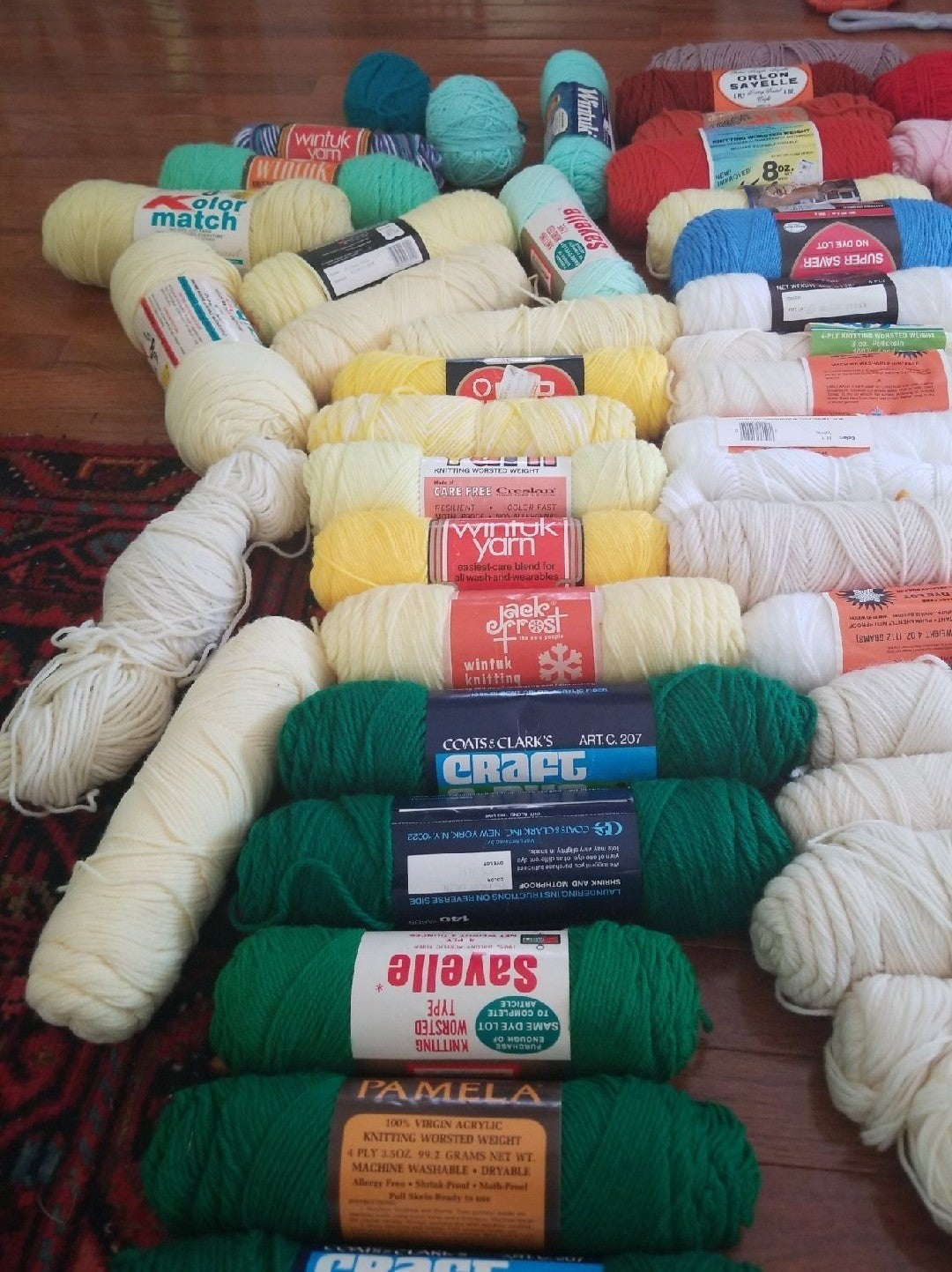 yarn Lot of  56 roll