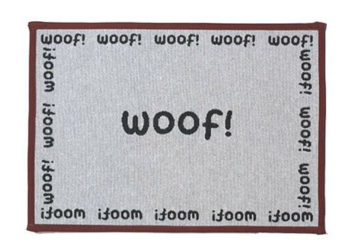Doggy woof tapestry placemat
