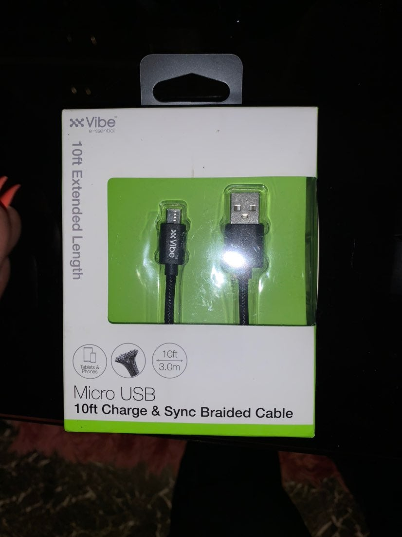Android Vibe 10ft micro usb charger and