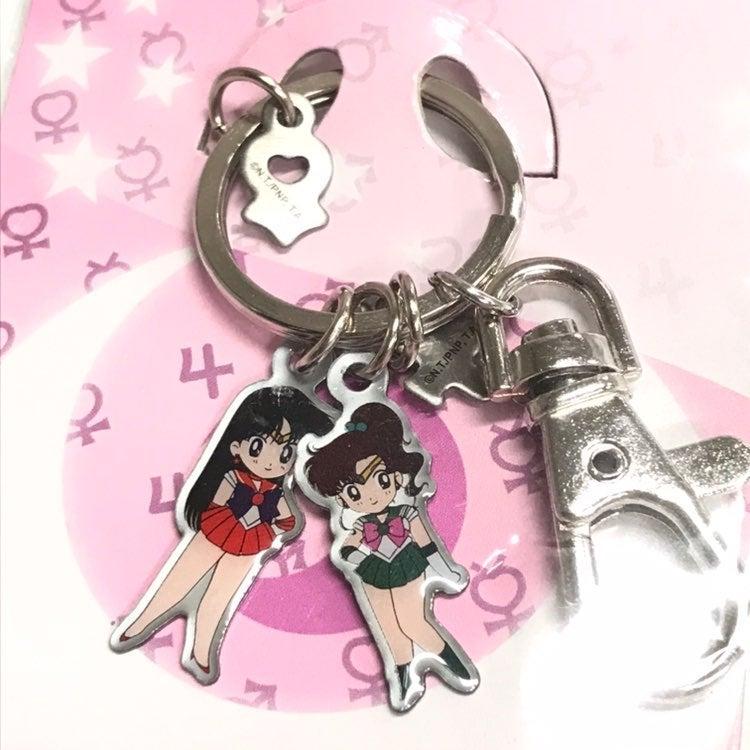 Sailor Mars Jupiter Chibi Keychain New