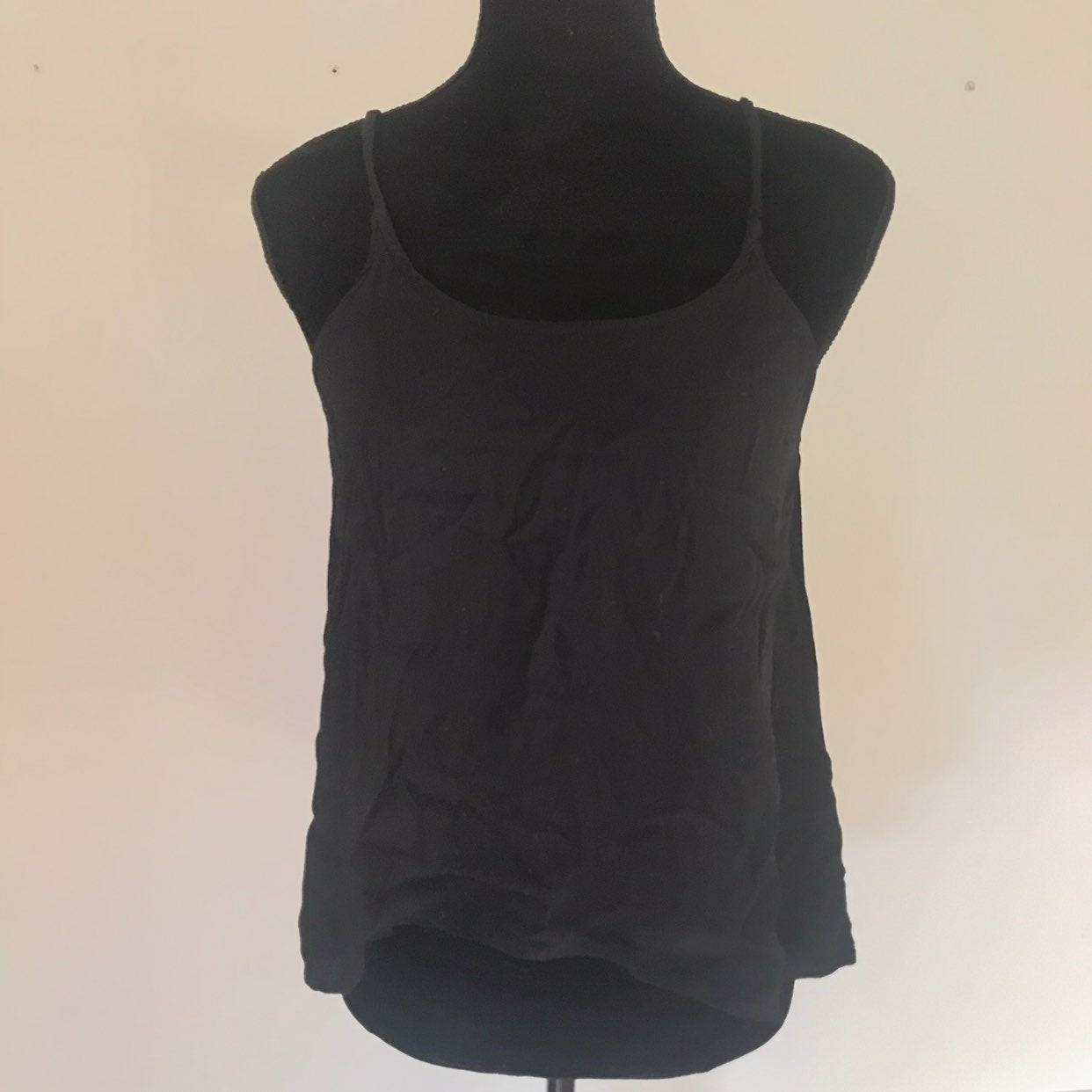 Angl Black Open Back Sexy Tank Top