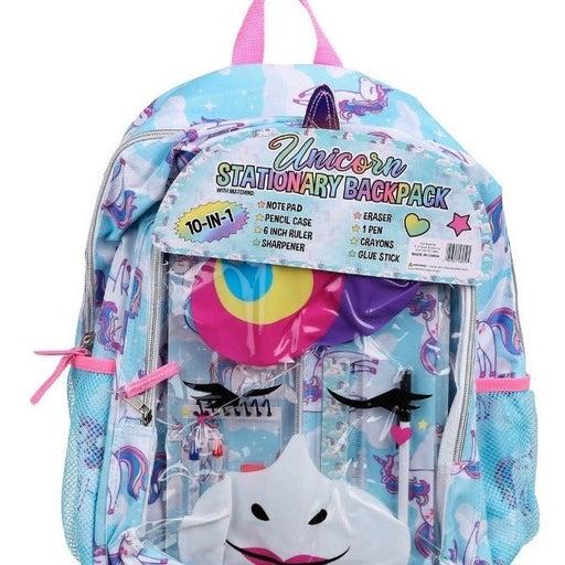Unicorn Backpack Kids 10-in-1 Bundle