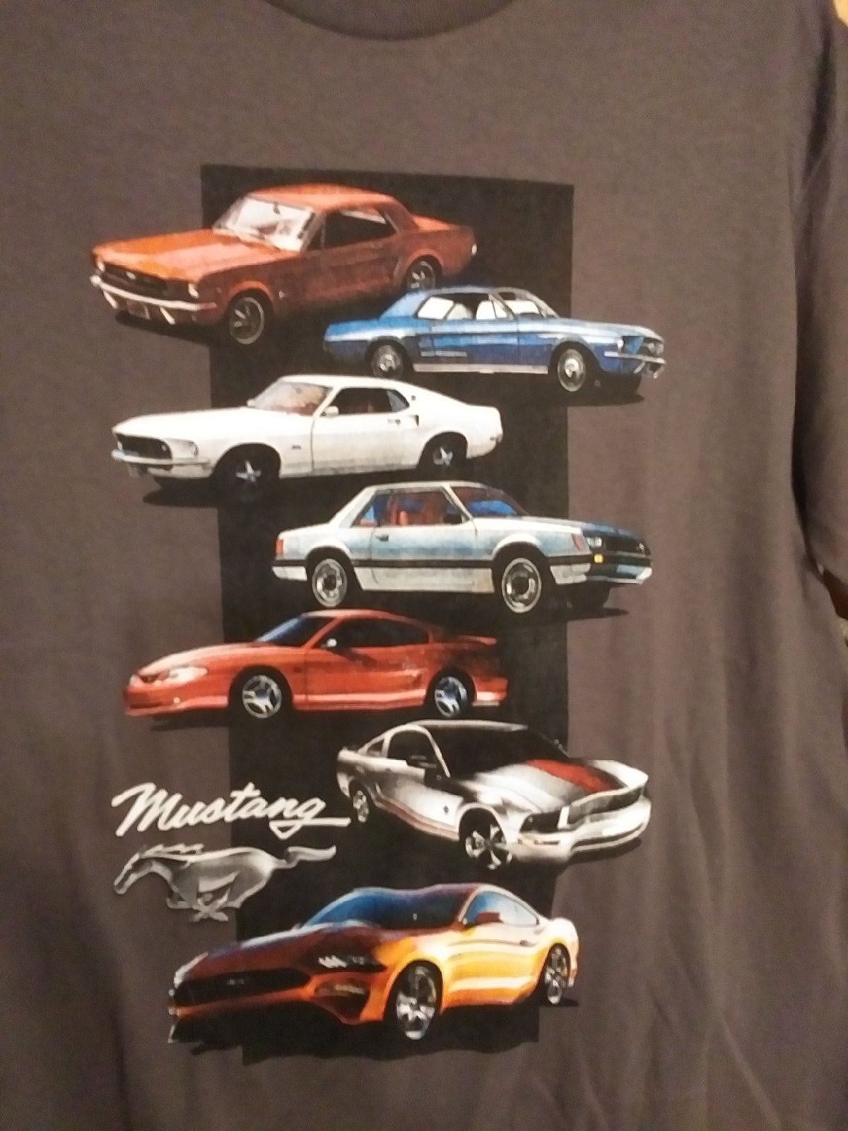 60 yrs of Mustangs Ford men's med tee