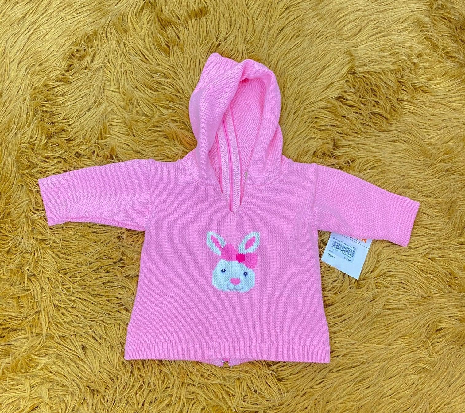 NWT Claver bunny hood sweater 6 mo