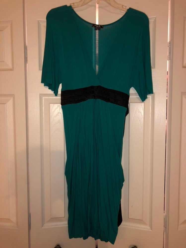 Business Casual Teal Dress