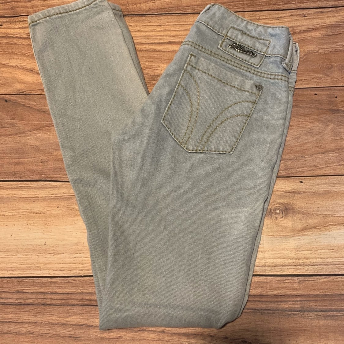 Serfontaine Grey Wash Skinny Jeans