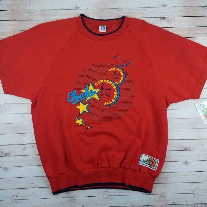 Rare VTG 80s Converse Chucks Sweatshirt