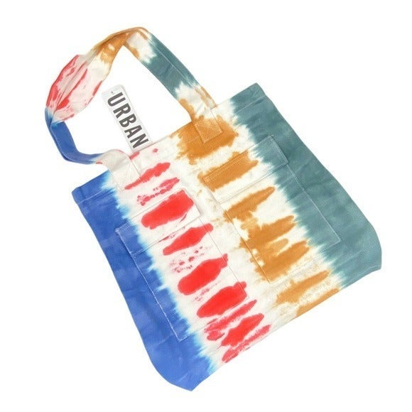 UO Tie Dye Pocket Tote Bag Rainbow Purse
