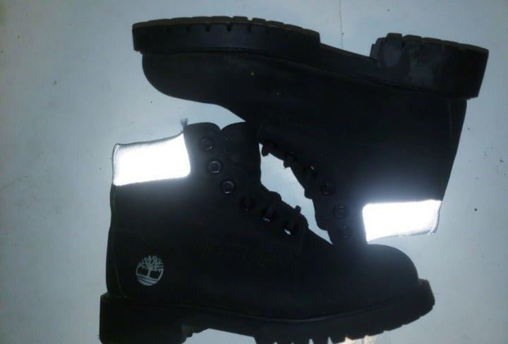 TIMBERLAND 6 Inch Black Nubuck Shoes 13