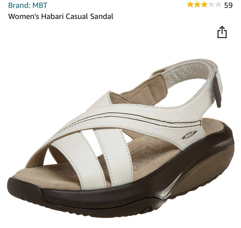 MBT white sandals