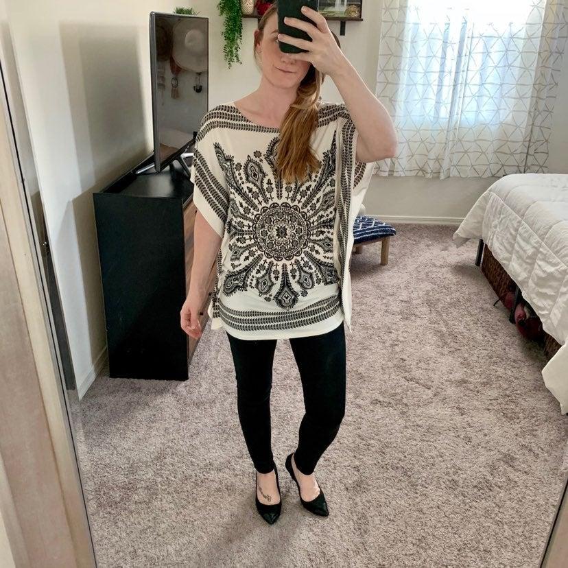 Boho Henna Print Kimono Dress Top
