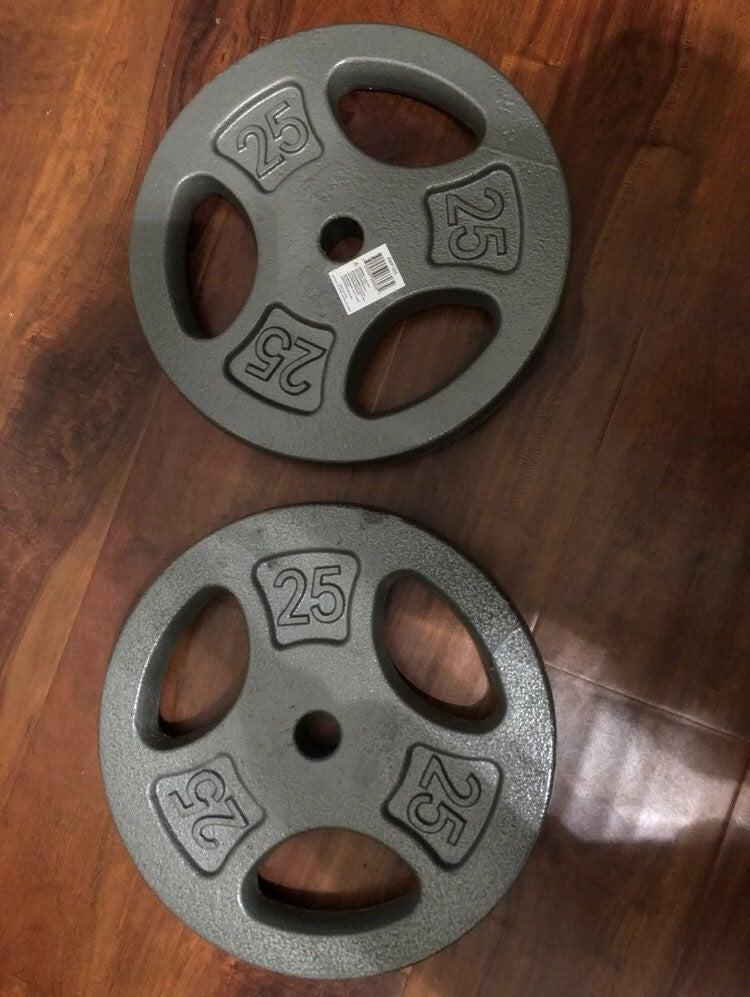 "CAP 25lb weight plates 1"" (set of 2)"