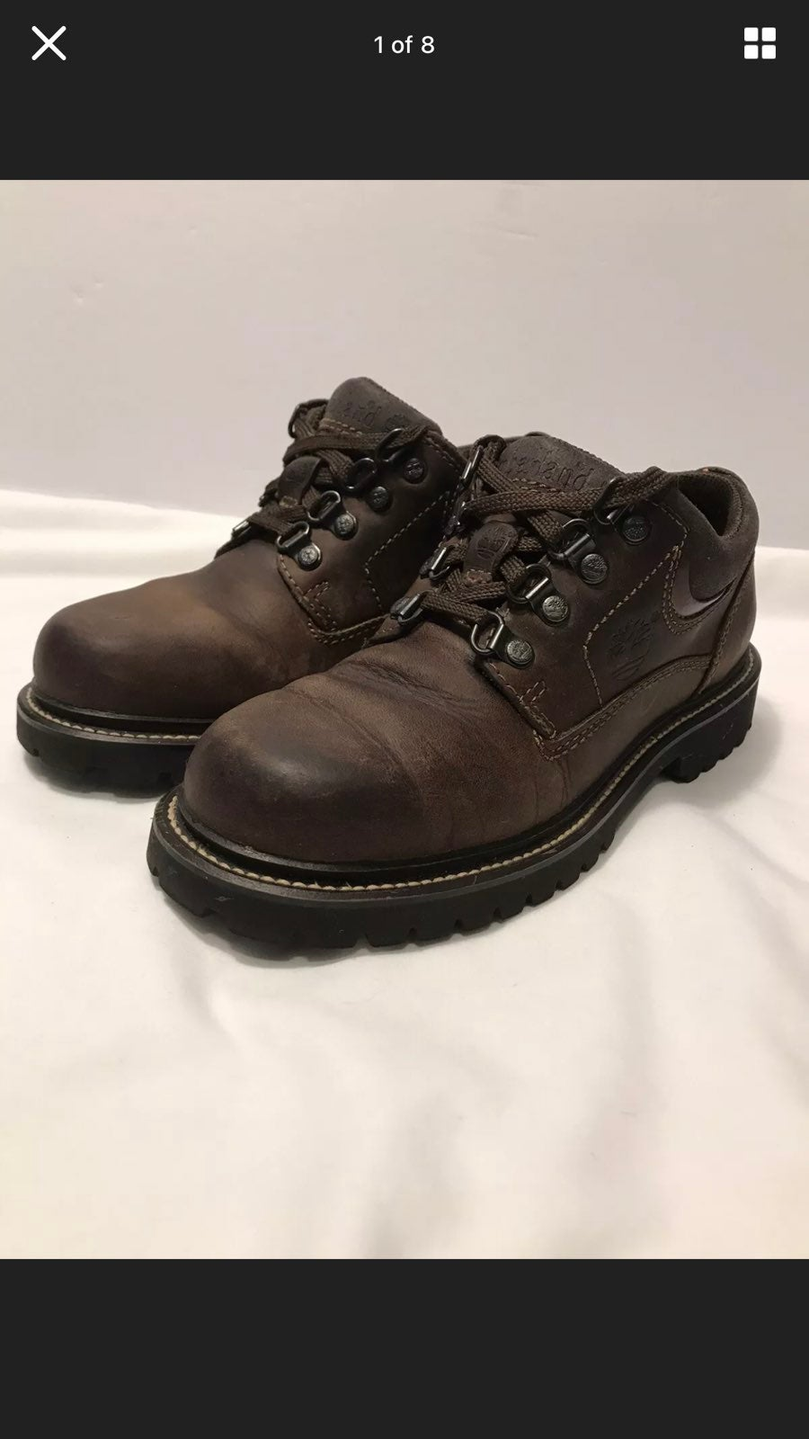 Timberland Low Cut Boots Size 7