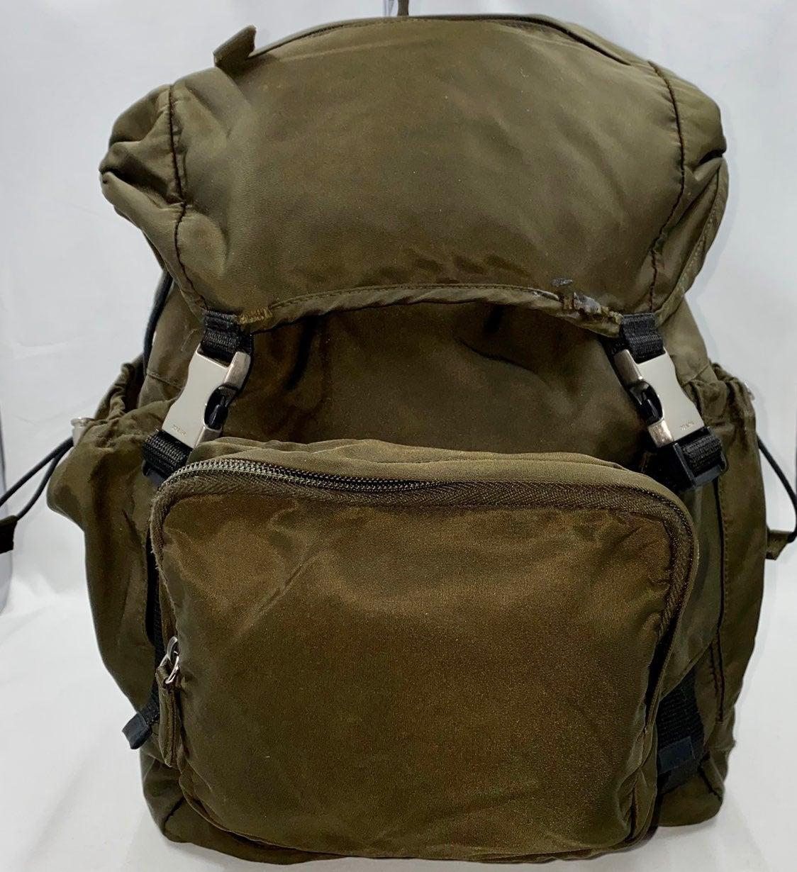 Prada Vela Backpack & Waist Band Combo