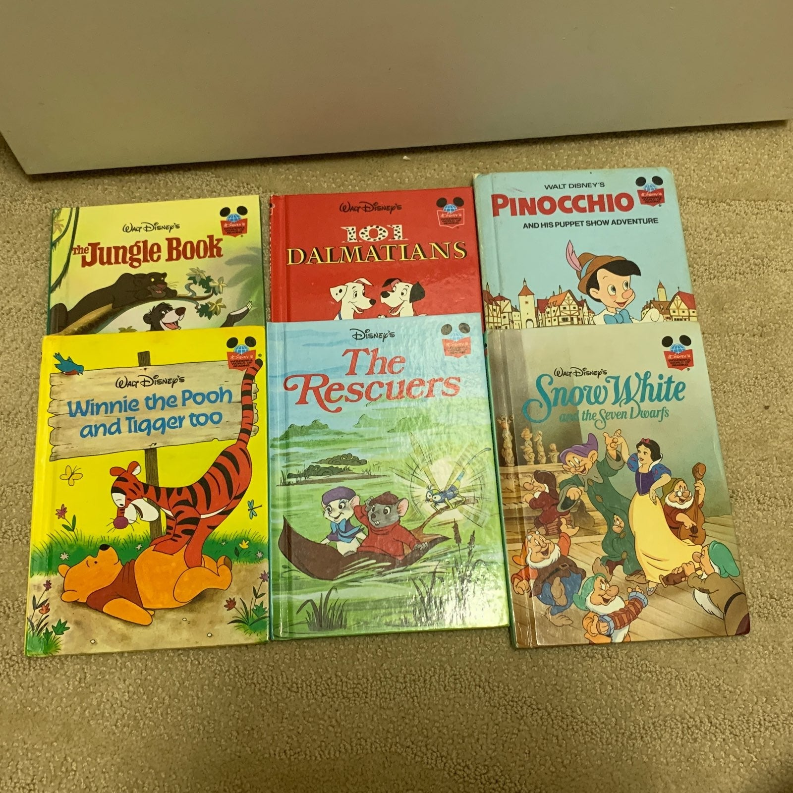 6 hard cover disney books