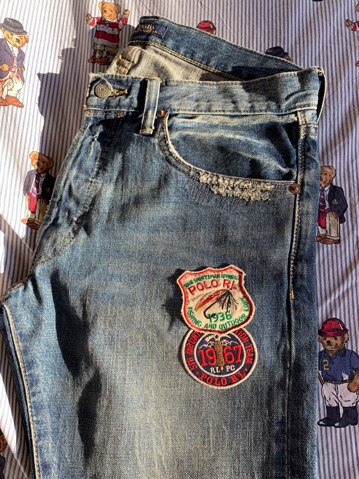 Ralph Lauren jeans with patches
