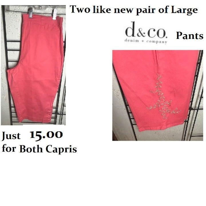 d. & co. denim & co. Large pants 2 Pair