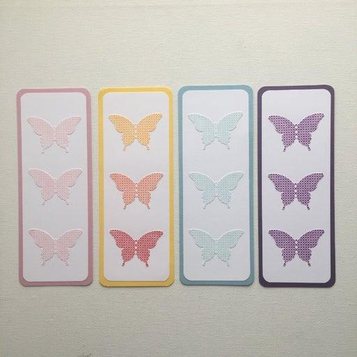 set of 4 handmade bookmarks