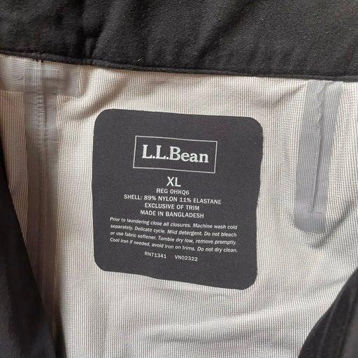 L.L. bean full zip waterproof pants