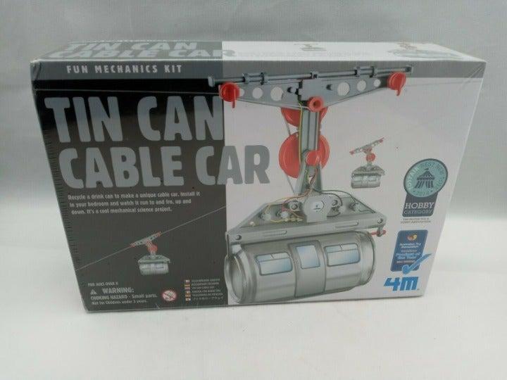 Tin Can Cable Car Fun Mechanics Kit New