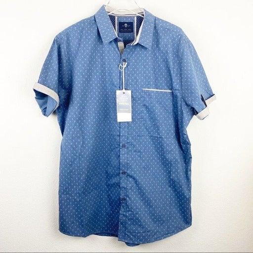 Craft + Flow Button Down SS Shirt BL XL