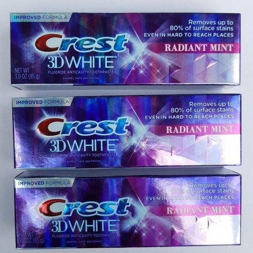 3 Crest Toothpaste Radiant Mint 3D