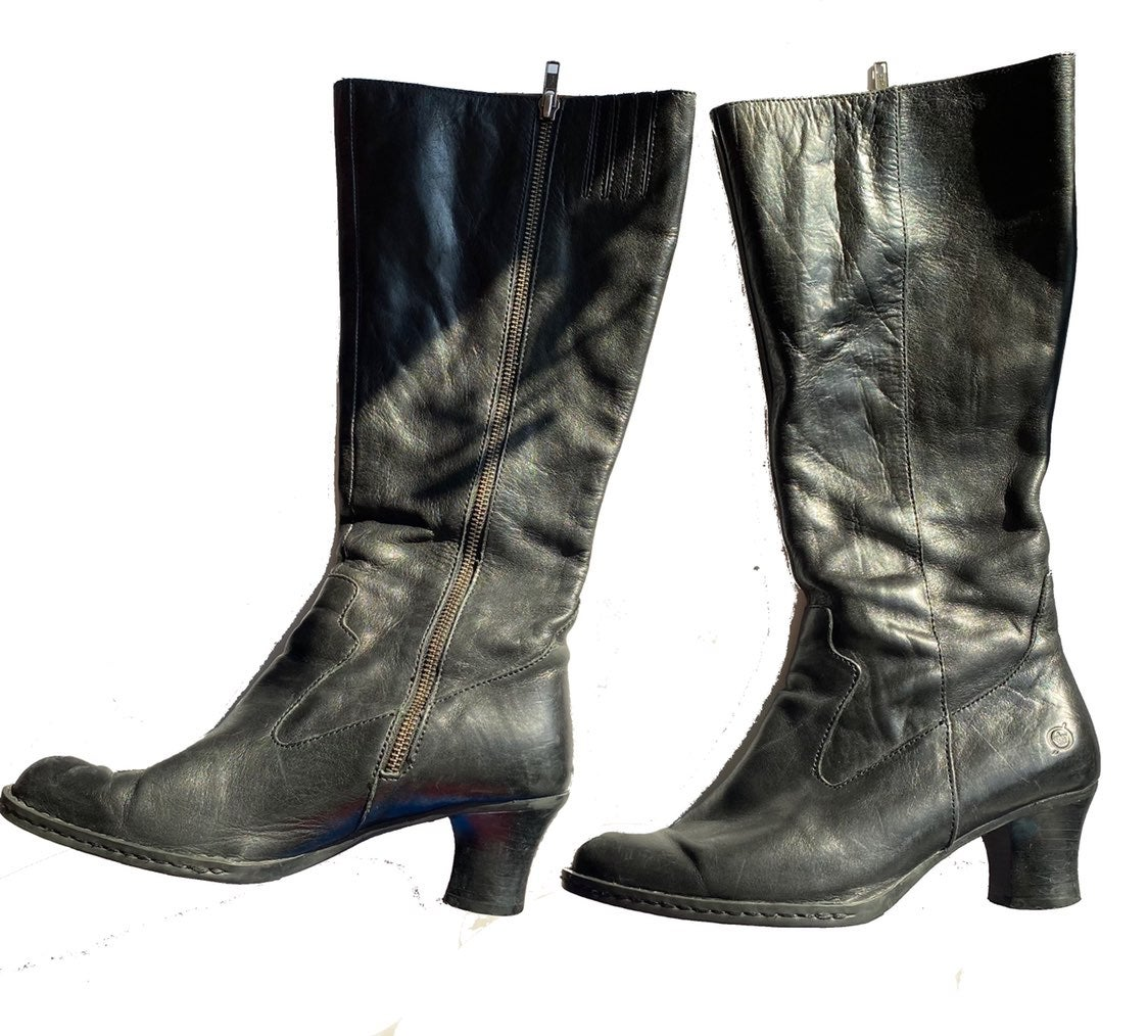 Born knee high leather Boots