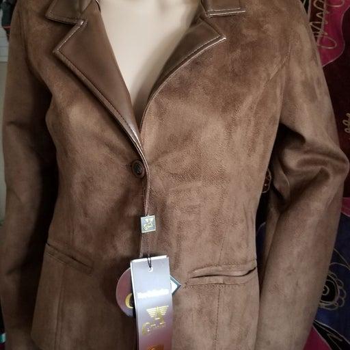 Womens A Collezioni Tan Suede Leather