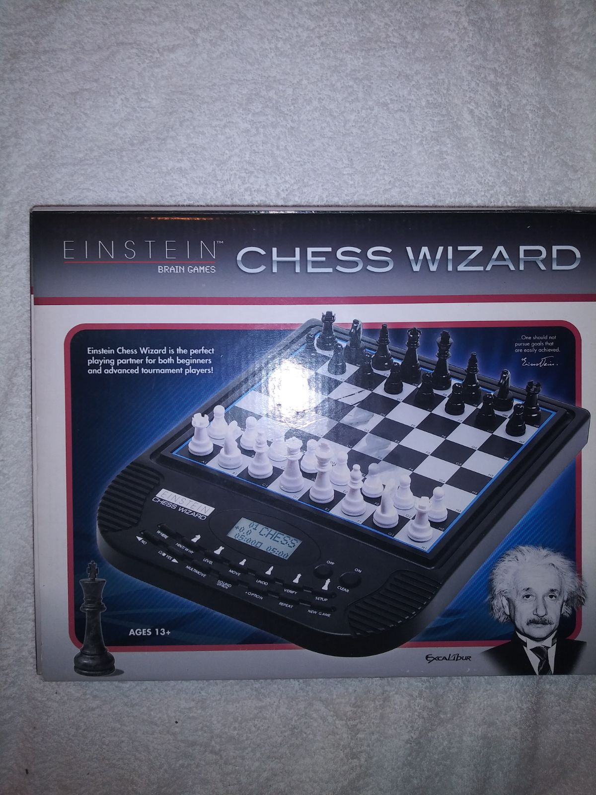 Excalibur chess wizard Einstein brain ga