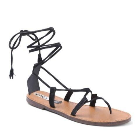 New XOXO Surf 2 Black Tie Sandals