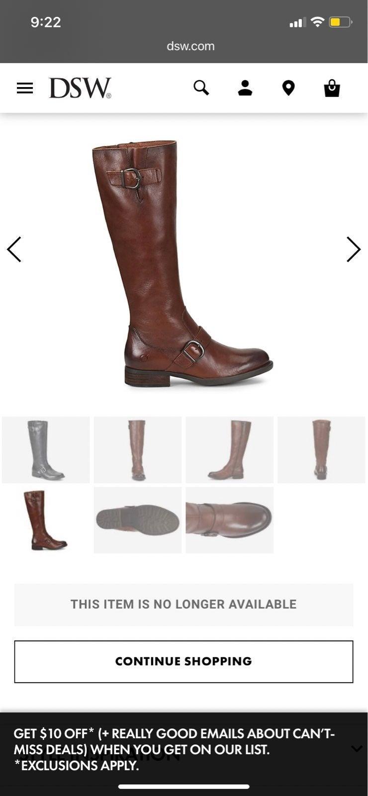 Born Poole Riding Boots NWOB