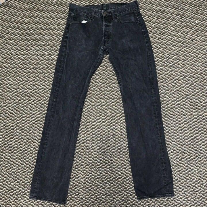 Men's Levis 501 Button Fly Jeans Regular